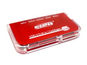 66 in 1 Card Reader HighPaq CR-Q007 sup SDHC ext  Red Book Style ret ― 1962.ru