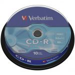 Диски CD ReWritable Verbatim 700Mb 80min 8x-12x Cake 10шт