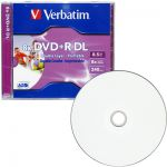 Диски DVD+R Verbatim 8.5 Gb 8x Double Layer 5шт Slim Color