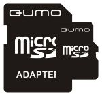 Карта памяти Micro SDHC QUMO 2Gb (QM2GMICSD) + SD adapter