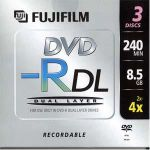 Диски DVD-R Fujifilm 8.5 Gb 4x Double Layer 1шт Jewel / 48194