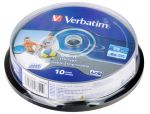 Диск Blu-Ray Verbatim 25Gb 6x Cake Box White (10шт) (43742)