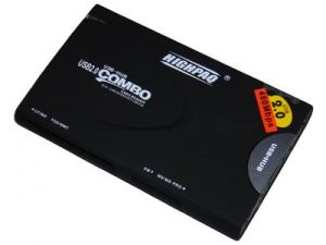 66 in 1 Card Reader HighPaq CR-D001+ Hab 3xUSB ext  Black ― 1962.ru